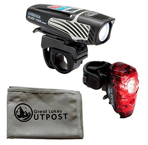NiteRider Lumina 1100 OLED Boost/Solas 100 Combo w/ Cloth