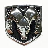 oem emblem - Black & Chrome Head Emblem Replace OEM Mopar Dodge Ram 1500 2500 3500 Charger