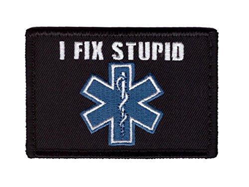 Hook I Fix Stupid EMT Emergency Medical Star Life Caduceus T