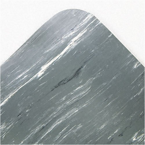 Crown : Cushion-Step Mat, Rubber, 36 x 72, Marbleized Gray -:- Sold as 2 Packs of - 1 - / - Total of 2 Each