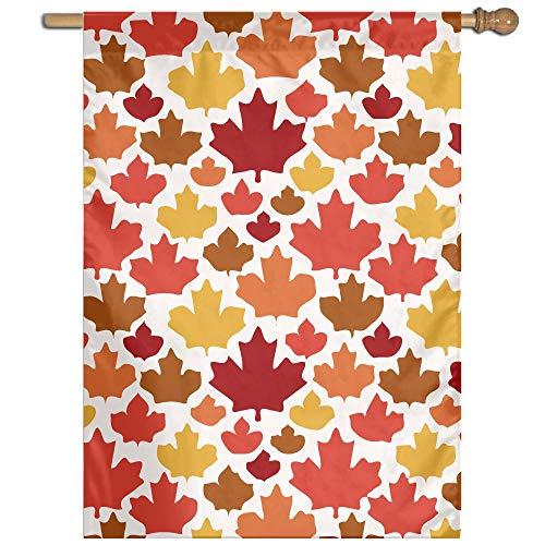 MKLNHBGFCH37 Maple Leaf Pattern Welcome Garden Flag Yard Flag Family Flag 27