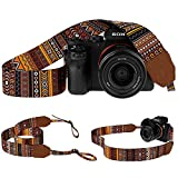 Pawia Vintage Camera Strap DSLR SLR Tribal Pattern Universal Sling Shoulder Neck Belt Compatible Straps for Canon Nikon Sony Pentax Fujifilm Olympus (Pattern 3)