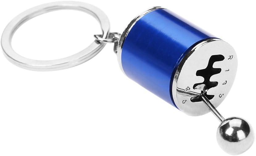 Winomo Auto Schlüssel Ketten Modell Gear Shift 6 Speed Getriebe Form Anhänger Schlüsselanhänger Ring Blau Baumarkt