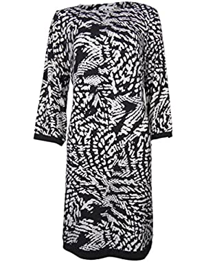 Calvin Klein Women's Printed Shift Jersey Dress