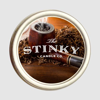 Grandpa's Pipe Candle from Stinky Candle Company - 2 Oz Pipe Tobacco