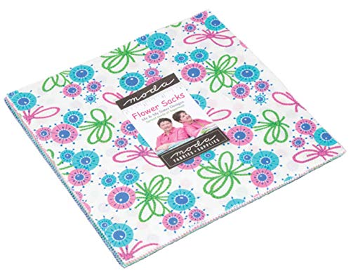 - Flower Sacks Layer Cake, 42-10 inch Precut Fabric Quilt Squares by Me & My Sister Designs