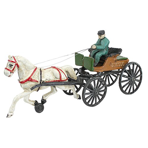 Design Toscano Style cast Iron Horse Vintage-StyleHorse Drawn Police Chief Patrol Wagon, Multi/Color by Design Toscano (Image #5)