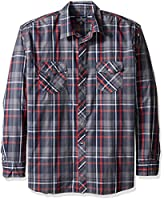 Company 81 Men's Big and Tall Justin Shirt, Navy, 4X