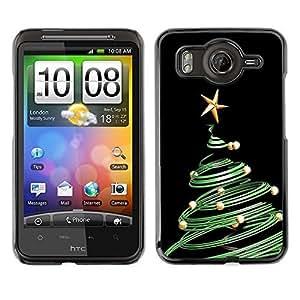 YOYO Slim PC / Aluminium Case Cover Armor Shell Portection //Christmas Holiday Green Tree Swirl 1286 //HTC G10