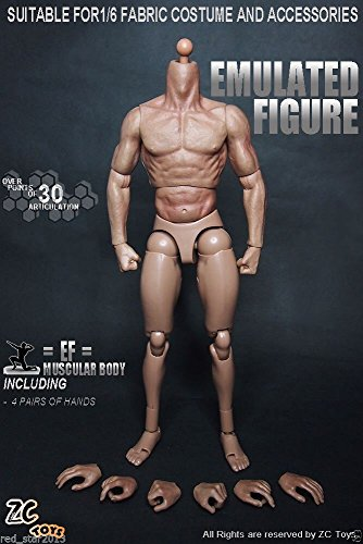 1/6 Scale 12Inch Male Muscle Body Action Figure Can Fit Hot Toys - Locator Infiniti Store