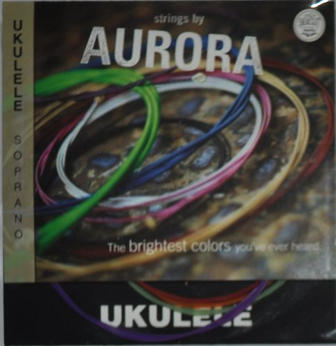 Aquila Colored Soprano Ukulele string by Aurora - Multi-colored Aurora Strings Str-3011