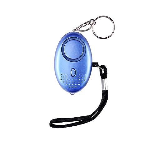 Alarma Personal,130DB Alarma Seguridad Autodefensa con Luz LED Ataque de pánico Llavero Alarma para Mujeres, Niños, Ancianos, Turno Nocturno(Azul)