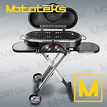 Mototeks, Inc. Parrilla portátil de propano para Barbacoa ...