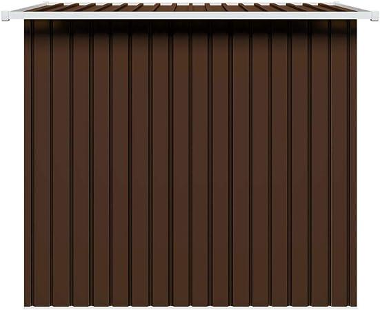 vidaXL Cobertizo de Almacenaje para Jardín Antracita Caseta Casetilla de Almacenamiento para Patio Exterior Cabaña de Acero Marrón: Amazon.es: Bricolaje y herramientas