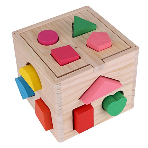 Sorting Cube Intellectual 13 Hole Shape Box Kids Baby Educational Toys Colorful Wooden Geometry Puzzle Building Block