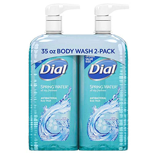 (Dial Antibacterial Body Wash, Spring Water (35 fl. oz., 2)