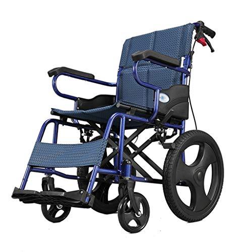 Amazon.com: YE ZI - Silla de ruedas plegable portátil para ...