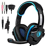 SADES SA-708 GT Stereo HiFi Gaming Headset Headphone with Microphone for PS4 Xbox360 PC Mac iPhone SmartPhone Laptop by Cheerwing