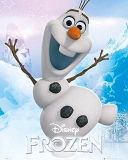 disney la reine des neiges poster olaf 50 x 40 cm