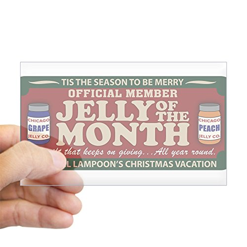 CafePress Christmas Vacation Jelly of The Month Club Sticker Rectangle Bumper Sticker Car Decal (Jelly Of The Month Club Gag Gift)