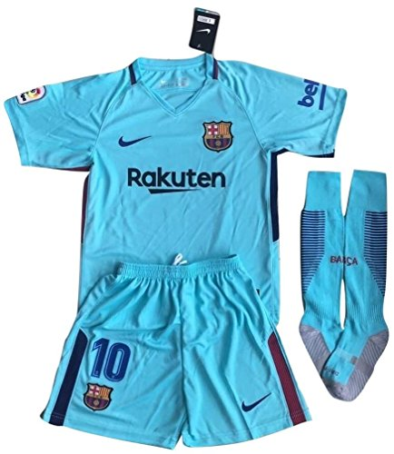 ff63ec8d7 FC Barcelona 2017-2018 Messi Youths Away Soccer Jersey   Socks Set - Buy  Online in Oman.