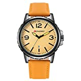 Longbo 4 Colors 80182G Analog Quartz 30M Waterresistant Men's Watch Leather Band/Stainless Steel Business Men Watch (Model1)