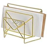 MyGift Brass-Tone Metal Envelope-Theme 2-Slot Mail Sorter