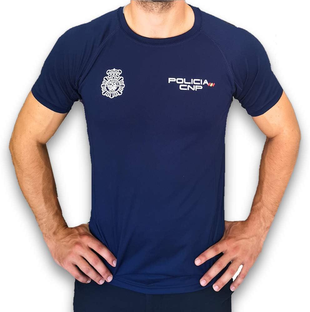 CNP Camiseta policia Nacional Tejido Tecnico para Entrenamiento ...