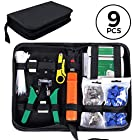 SGILE Network Tool Kits Professional Net Computer Maintenance LAN Cable Tester 9 in