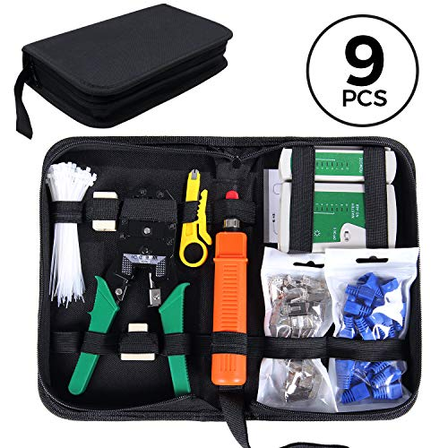 SGILE 9/1 Network Tool Kit for RJ45/11/12 Cat5/5e
