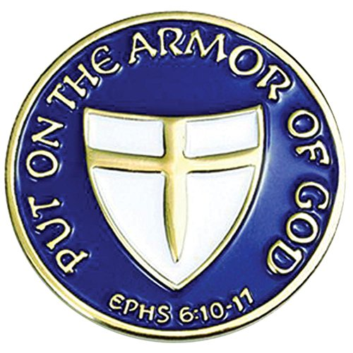 "Armor of God 1"" Lapel Pin B-110"