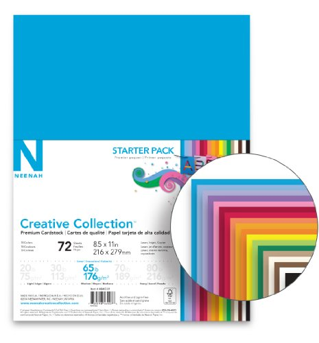 Neenah Creative Collection Classics Specialty Cardstock Starter Kit, 8.5 X 11 Inches, 72 Count (46407-02) Photo #2