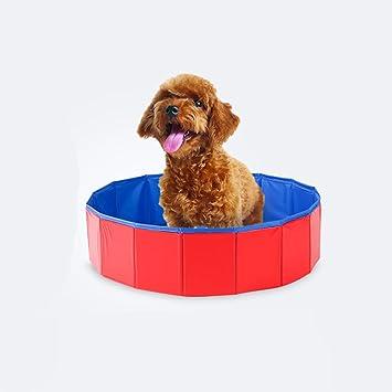 Lazzykit plegable Piscina Perros bañera Verano hogar cama Outdoor Perros Pool swimming pool Piscina 60 x