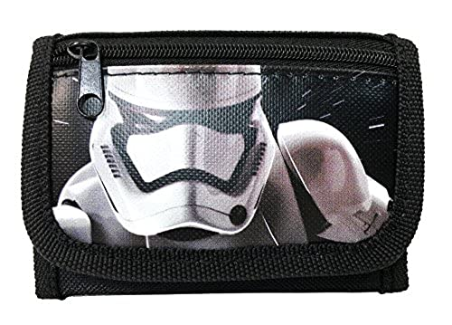 "02. New Disney Star Wars ""The Force Awaken"" Storm Tropper Tri Fold Wallet - Black"