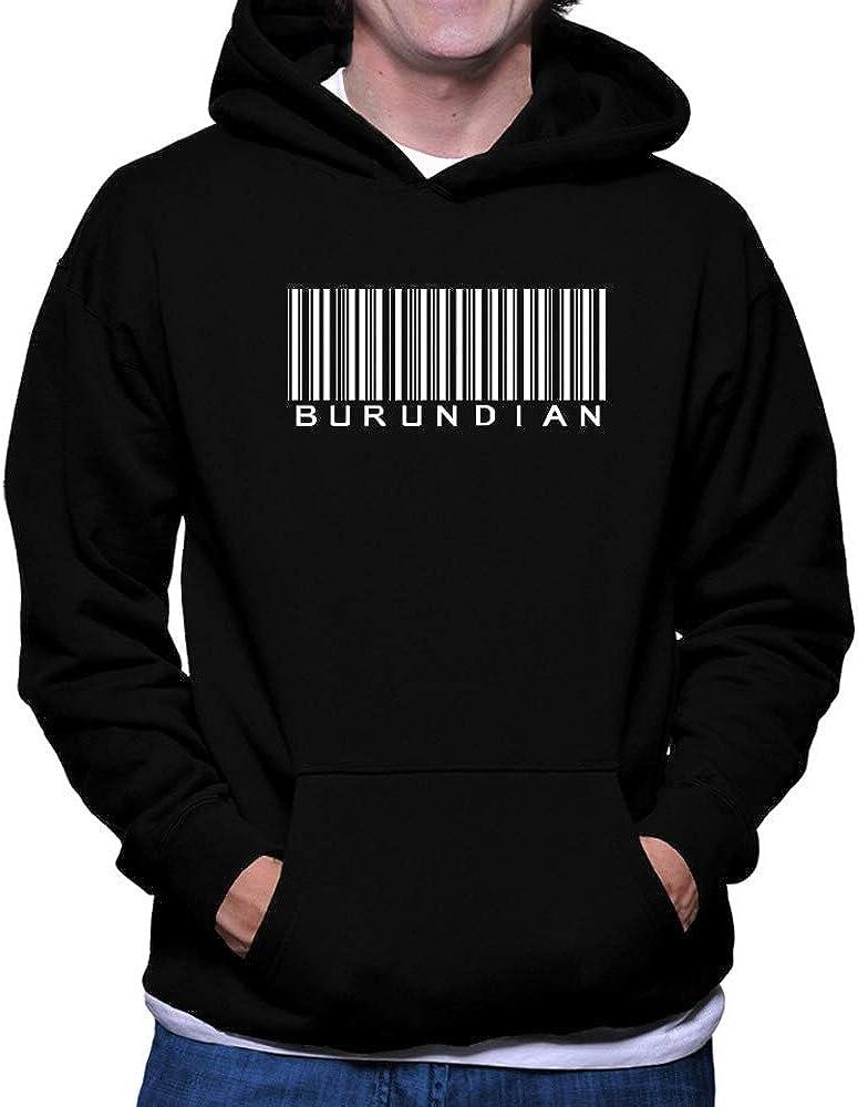 Teeburon Burundian Top Barcode Hoodie