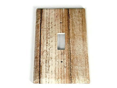 1 Gang Lightswitch Plate Whitewash Barnwood (284S)