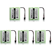 EBL Pack of 5 BT-905 Cordless Phone Replacement Batteries for Uniden BT-800 BT800, BP-800 BP800, BT-905 BT905, BP-905 BP905 Cordless Phone Battery Packs, 3.6V 800mAh