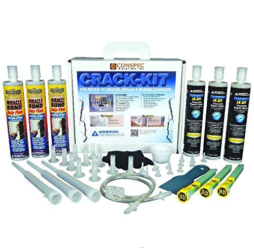 Conspec - Concrete Crack Repair Kit, Basement, Floor, Wall, Foundation, Pools, Easy to use''Crack KIT'' Epoxy Patch and Weld Concrete by Crack Kit 6-Tubes (Image #5)