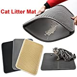 Nacome Honeycomb Large Cat Litter Mat Premium Kitty Box Trapping Sifting Pads Waterproof Urine Repellent Scatter Activity Play Scratching/Nap to Keep Floor Corner Carpet clean Best for Grumpy (Beige)