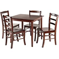 Winsome Groveland Square Dining Table with 4 chairs, 5-Piece