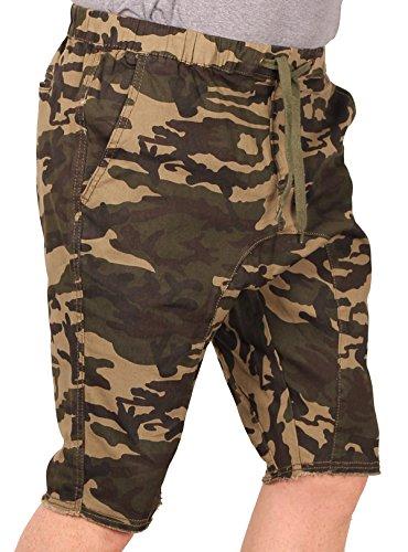 Blacksmith Men's Stretch-Twill Jogger Short, Woodland, Size X-Large (Woodland Shorts Spandex)