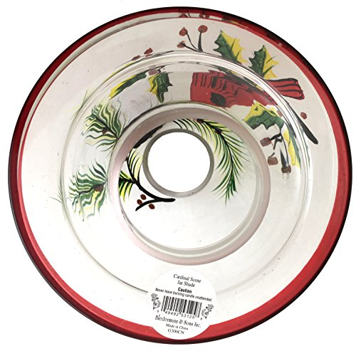 Biedermann & Sons Handpainted Jar Shades, Cardinal Scene, 4-Count by Biedermann & Sons (Image #4)