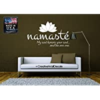 CreativeWallDecals Wall Decal Vinyl Sticker Decals Art Decor Design Namaste Buddha Yoga Om Kharma Chakras Style Dorm Office Bedroom (r817)