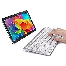 SPARIN Mini Bluetooth Keyboard for Samsung Galaxy Tab S3 / S2 9.7 / 8.0 Inch, Galaxy Tab E, Galaxy Book, Galaxy Tab A 9.7 / 8.0 Inch, Galaxy Tab 4 10.1 / 8.0 / 7.0 Inch, Galaxy Tab S, White