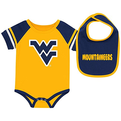 - Infant West Virginia Mountaineers Bodysuit and Bib Set - 6 to 12 Months
