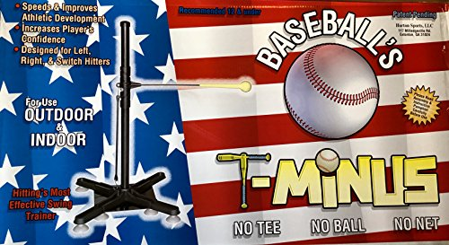 Horton Sports Baseball's T-Minus, batting training aid, left or right handed batting, indoor and outdoor use by Horton Sports