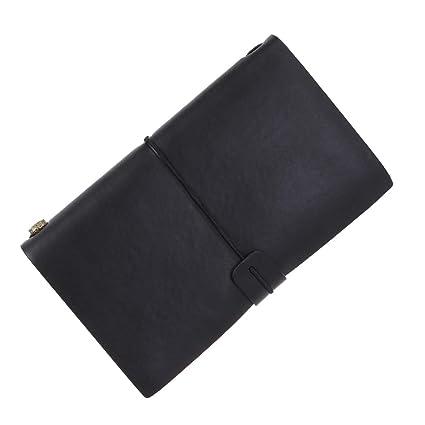 TOYANDONA 1pcs notebook newpieles hoja viva tapa de cuero ...