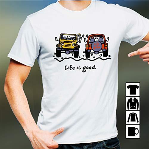 Life Is Good Jeep T Shirt Long Sleeve Sweatshirt Hoodie Youth (Is Life Jeep Good)