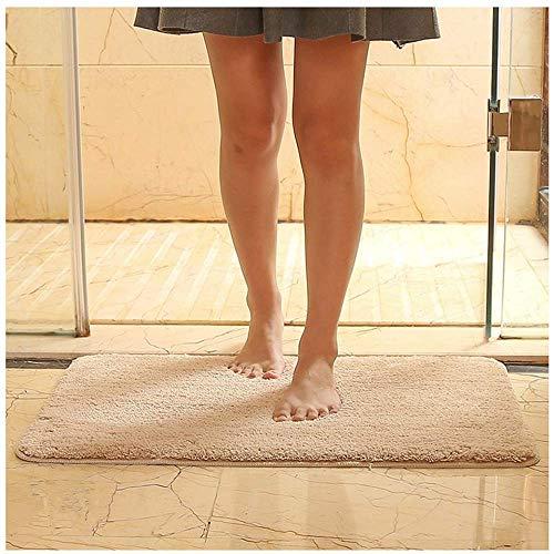 Bath 16' Grip (Bath Rug Bathroom Mat Luxury - Extra Soft Non-Slip Rubber Mats Washable Microfiber Entry Door Bedroom Indoor Doormat Carpet Footpad Absorbent Area Rugs (16''X24'', Light Tan))
