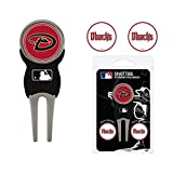 Arizona Diamondbacks (DBacks) Divot Repair Tool with 3 Golf Ball Markers